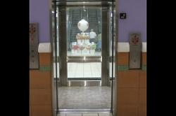 Open Windowed Elevator Door