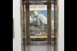 Open Windowed Elevator Door 1