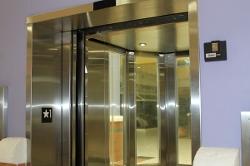 Open Windowed Elevator Door 3