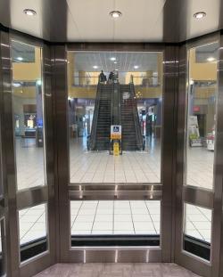 Windowed Elevator Interior
