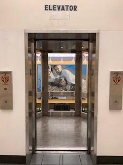 Open Windowed Elevator Door 4